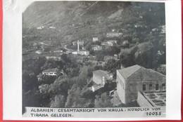 ALBANIA K.U.K. PHOTO OF KRUJA NORDLICH VON TIRANA  ( 17 X 12 CM ) - Albania