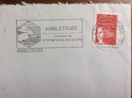 AMBLETEUSE (62) :  Commune Du Site National Des 2 Caps - 17-10-97 - Marcophilie (Lettres)