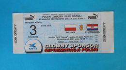 POLAND V CROATIA - 2001. FIFA Women's World Cup Qualification Football Match Ticket * Soccer Fussball Calcio Foot Polska - Match Tickets
