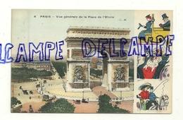 Paris. Vue Générale De La Place De L'Etoile, Arc De Triomphe. C. Malcuit, Phot.-édit. Illustrations Xavier Sager. 1919 - Sager, Xavier