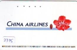 Télécarte  JAPON * CHINA AIRLINES   (2375)  * AVION * AIRLINE * Phonecard JAPAN - Avions