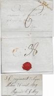 LSC N°1 ARM.D'ITALIE Du 35e Régiment De Ligne De Milan En Date Du 26 Avril 1809 à Des Fabricans De Draperie à Lyon - Postmark Collection (Covers)