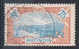 MARTINIQUE N°123 Belle Oblitération De Terres Sainville - Gebraucht