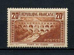 FRANCE 1929 N° 262 ** Type IIB Neuf MNH Superbe C 550 € Pont Du Gard Monuments Sites - Unused Stamps