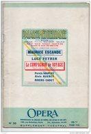 """THÉÂTRE NICE . PALAIS DE LA MÉDITERRANÉE . """" LE COMPAGNON DE VOYAGE """" . MAURICE ESCANDE, LUCE FEYRER - Réf. N°34P - - Théâtre"""