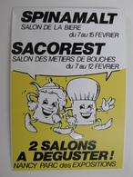 NANCY Salons Bière Et Métiers De Bouche Parc Des Expositions  - Autocollant Ville Evénements Boisson Bière Et Métiers Al - Autocollants