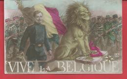 ILLUSTRATEUR  ALBERT BEERTS VIVE LA BELGIQUE  Soldats Drapeau Medaille  Lion N05 - Beerts, Albert