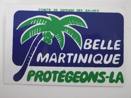 """Comité De Défense De La Plage Des Salines à SAINTE-ANNE """"BELLE MARTINIQUE"""" Protégeons-la - Autocollant Associations 972 - Autocollants"""