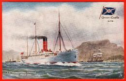 Steamboat Castle Dunvegan To Dining Hall Cove Africa Liner Ship Fleet Stamp Ova Custody - Piroscafi