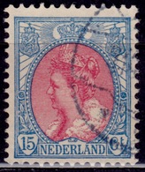 Netherlands, 1908, Wilhelmina, 15c, Sc#70, Used - 1891-1948 (Wilhelmine)