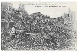 MESSINA MESSINE (Italie) Tremblement De Terre Via Cavour - Messina