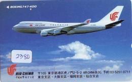 Télécarte  JAPON * AIR CHINA    (2380)  * AVIATION * AIRLINE * Phonecard JAPAN - Avions