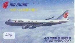 Télécarte  JAPON * AIR CHINA    (2381)  * AVIATION * AIRLINE * Phonecard JAPAN - Avions