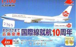 Télécarte  JAPON * CHINA AIRLINES    (2383)  * AVIATION * AIRLINE * Phonecard JAPAN - Avions