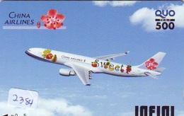 Télécarte  JAPON * CHINA AIRLINES    (2384)  * AVIATION * AIRLINE * Phonecard JAPAN - Avions