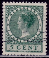 Netherlands, 1926, Wilhelmina, 5c, Sc#172, Used - Oblitérés