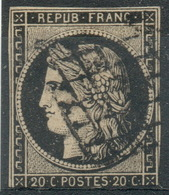 France : Céres N° 3 Belle Oblitératio Année 1849 - 1849-1850 Cérès