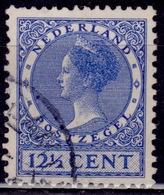 Netherlands, 1928, Wilhelmina, 12 1/2c, Sc#180, Used - Oblitérés