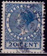 Netherlands, 1928, Wilhelmina, 20c, Sc#183, Used - 1891-1948 (Wilhelmine)