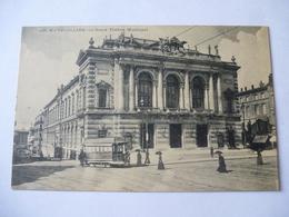 MONTPELLIER (30)  : TRAMWAY Place De La COMEDIE Vers 1907 - Voir Les 2 Scans - Tramways