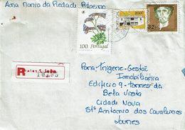 Portugal , 1990 , Registration Label And Postmark AREIAS S. JOÃO - Poststempel (Marcophilie)