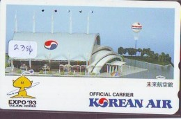Télécarte  JAPON * KOREAN AIR   (2386)  * AVIATION * AIRLINE * Phonecard JAPAN - Airplanes