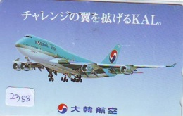 Télécarte  JAPON * KOREAN AIR   (2388)  * AVIATION * AIRLINE * Phonecard JAPAN * AIRPLANE * FLUGZEUG * VLIEGTUIG - Avions
