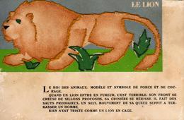 CPA Couture Et Points De Croix Jungle 3 - Une Bonne Couturière à Brodé Ce Lion - T.C. Bouasse-Jeune & Cie - Lions