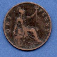 Grande Bretagne  --  1 Penny 1898  -  Km # 790  -  état  TB+ - 1902-1971 : Monnaies Post-Victoriennes