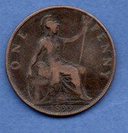 Grande Bretagne  --  1 Penny 1899  -  Km # 790  -  état  TB+ - 1902-1971 : Post-Victorian Coins