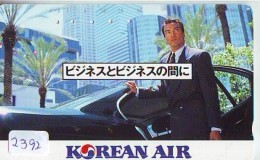 Télécarte  JAPON * KOREAN AIR  (2392)  AVIATION * AIRLINE * Phonecard JAPAN  AIRPLANE * FLUGZEUG - Airplanes