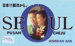 Télécarte  JAPON * KOREAN AIR  (2393)  SEOUL * AVIATION * AIRLINE * Phonecard JAPAN  AIRPLANE * FLUGZEUG - Avions