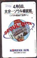 Télécarte  JAPON * KOREAN AIR  (2399) SEOUL * AVIATION * AIRLINE * Phonecard JAPAN  AIRPLANE * FLUGZEUG - Avions
