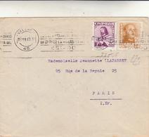 Valencia To Paris, Cover 1949 - 1931-50 Storia Postale