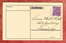 Karte, Drucksache, EF Posthorn, Olpe Nach Freudenberg 1922 (57107) - Storia Postale