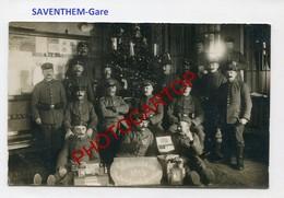 ZAVENTEM-Saventhem-GARE-NOEL 1915-CARTE PHOTO Allemande-GUERRE 14-18-1WK-BELGIEN- - Zaventem