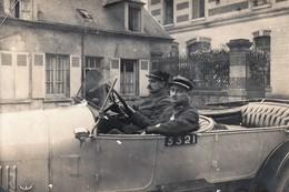 Rare Photo Capitaine Avec Chauffeur Dans Son Véhicule Matricule N°5321 - 1914-18