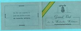 Vieux Papiers > Non Classés >  Invitation Bal De La Médaille Militaire Salle Des Fête De Moulins - Programmi