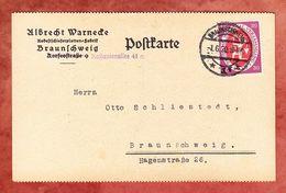 Karte, EF Nationalversammlung, Braunschweig 1920 (57110) - Covers & Documents
