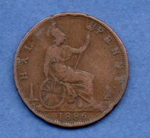 Grande Bretagne  --  1/2 Penny 1886  -  Km # 754  -  état B+ - 1902-1971 : Monete Post-Vittoriane
