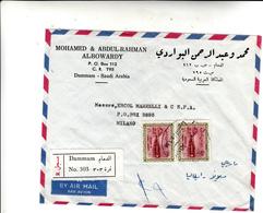 Dammam, Arabia Saudita To Milano. Cover 1967 - Arabia Saudita