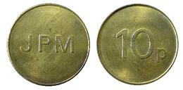 00362 GETTONE TOKEN JETON VENDING MACHINE JPM 10p - Royaume-Uni