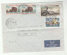 1965 SENEGAL To USA Airmail COVER Stamps TITANIUM SAND DREDGING  RIVER SAIL BOAT  Minerals - Senegal (1960-...)
