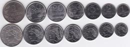 Brazil -  Set 7 Coins 1 2 5 10 20 50 Ct 1 Cruzeiro 1969 - 1978 UNC Lemberg-Zp - Brasil