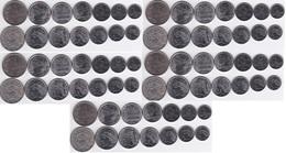 Brazil - 5 Pcs X Set 7 Coins 1 2 5 10 20 50 Ct 1 Cruzeiro 1969 - 1978 UNC Lemberg-Zp - Brasil