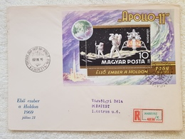 FDC BIG SALE Hungary 1969. Space - Apollo 11. Sheet On FDC Michel: Bl. 72. / 12 EUR - FDC