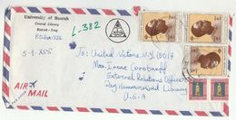 1980s Iraq BASRAH UNIVERSITY LIBRARY To UNITED NATIONS LIBRARY USA Airmail Cover Stamps Un - Iraq