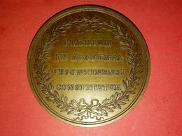 RARE MÉDAILLE BRONZE ? Louis XV : Duc De Tallard Pair De France  Graveur Et Année à Déterminer 67.34 Gr. Diamètre 52 Mm - Otros