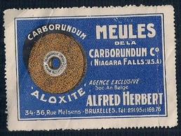 BELGIQUE - BRUXELLES - MEULES DE LA CARBORUNDUM ALOXITE - ALFRED HERBERT - Postage Labels
