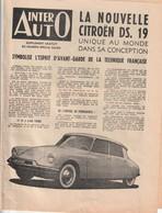 Rare Depliant Inter Auto La Nouvelle Citroen DS 19 Années 50 - Voitures